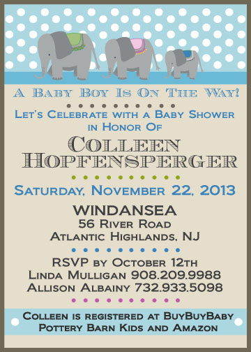 baby shower invitations - And Baby Makes Three by Allison Albainy