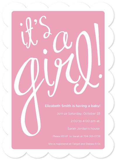 baby shower invitations - girlie-girl! by kistin jordan