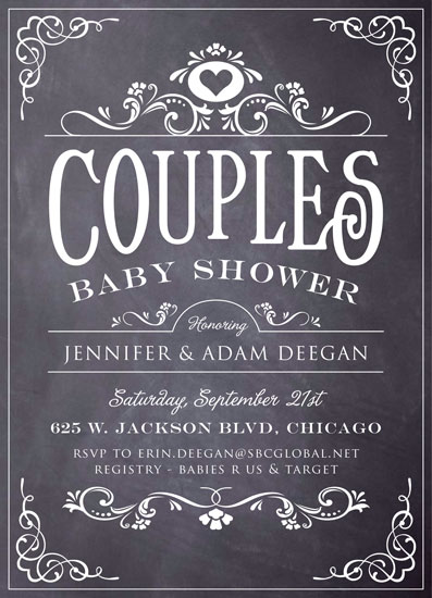 baby shower invitations baby vintage chalkboard by erin deegan