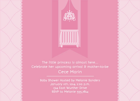 baby shower invitations - Little Princess by Suzanne MK