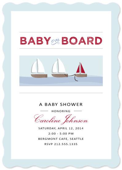 baby shower invitations - Sailing Along by Jenn Johnson