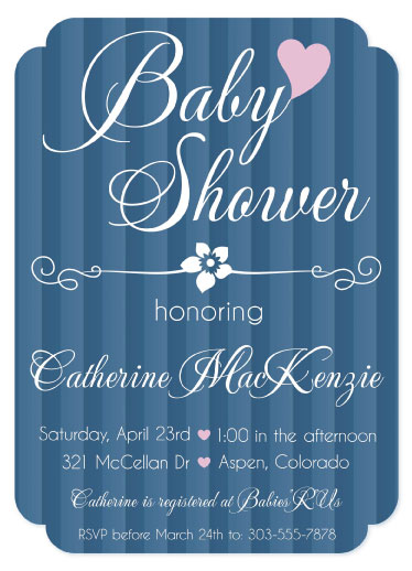 baby shower invitations - Chic Stripes by Cindy Jost