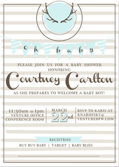 baby shower invitations - Deer-y me! by KJ Paperie