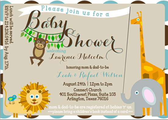 baby shower invitations - Welcome To The Jungle, Baby! by KJ Paperie