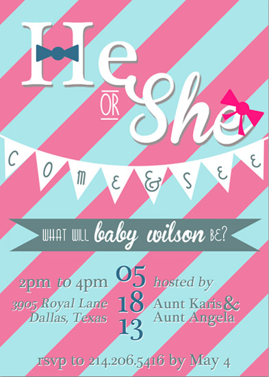 baby shower invitations - What Will Baby Be? by KJ Paperie