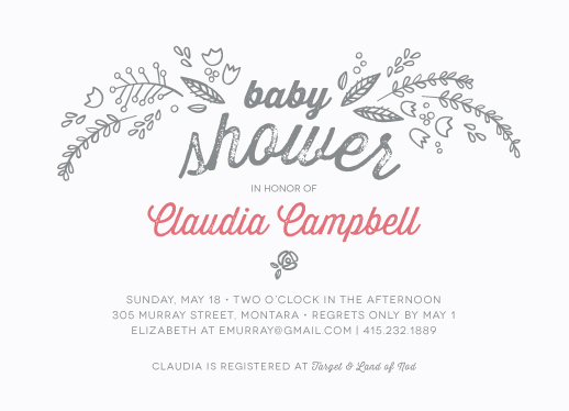 baby shower invitations - blooming with joy by Kelly Ventura