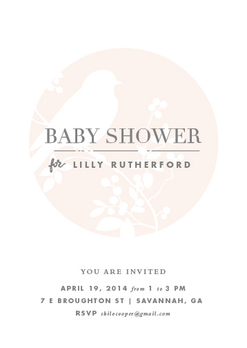 baby shower invitations - Perched by Stacey Meacham