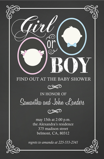 baby shower invitations - Baby Gender by Chasity Smith