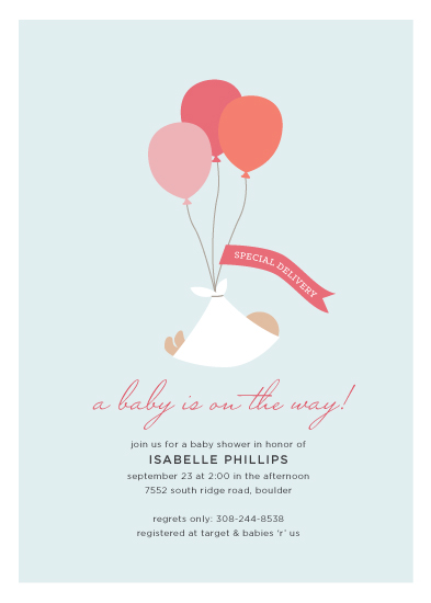 baby shower invitations - Special Delivery by Morgan Newnham