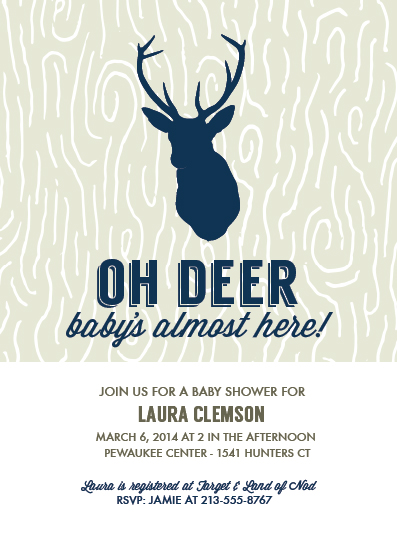 Baby Shower Invitations Oh Deer Babys Almost Here At Minted