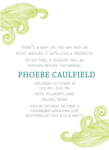 baby shower invitations - A Breezy Baby Invite by Clarissa Nash
