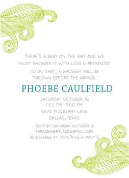 A Breezy Baby Invite