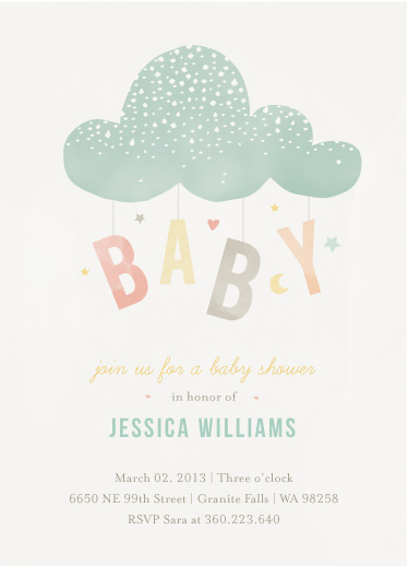 baby shower invitations - Cloud Charm at Minted.com