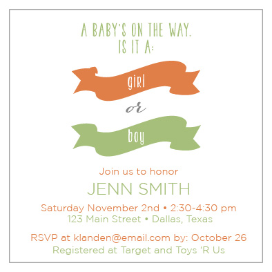 baby shower invitations - Girl or Boy? by Clarissa Nash