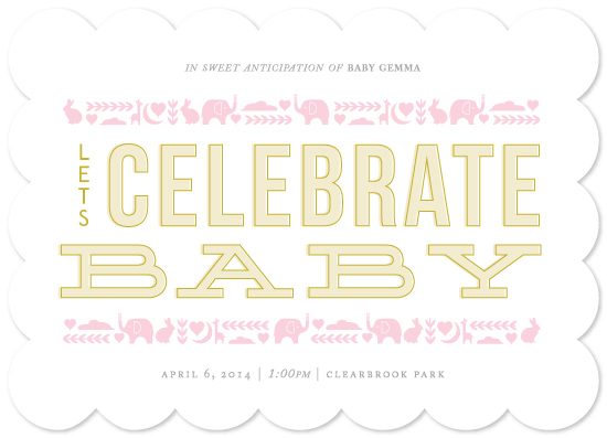 baby shower invitations - Animals on Parade by Bethany Anderson