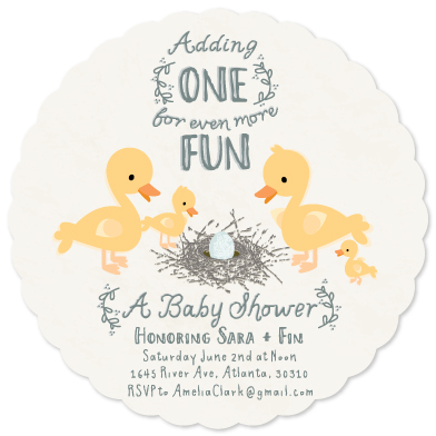 baby shower invitations - The More the Merrier by Adriane
