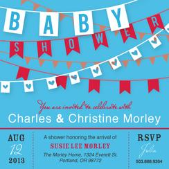 Baby Shower Paper Flags