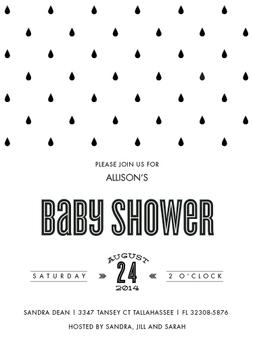 Baby shower raindrops