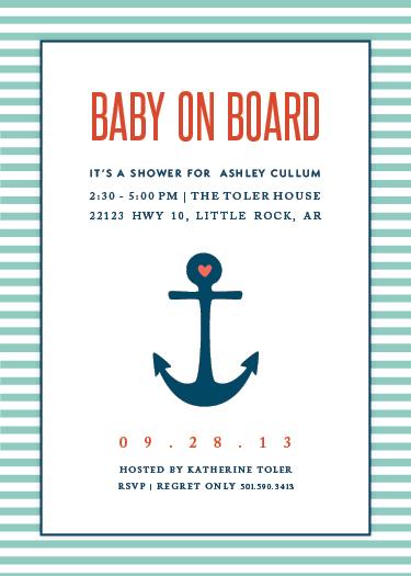 baby shower invitations - Baby on Board!! by Lauren Hampton