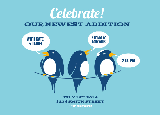 baby shower invitations - Birds on a Wire by Boots