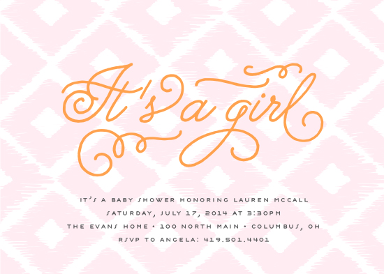 baby shower invitations - Adoring Ikat by Cheer Up Press