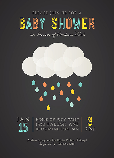 baby shower invitations - Rainbow Droplets by Iron Range Artery