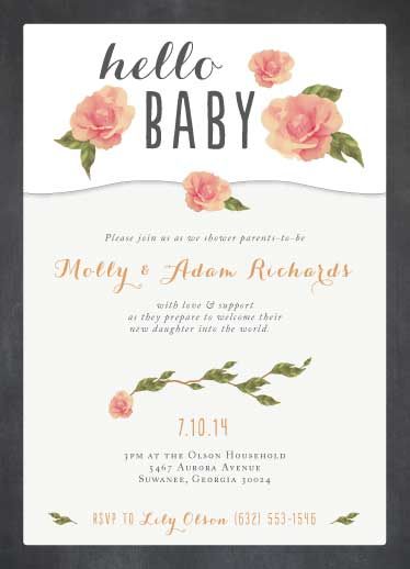 baby shower invitations - Hello Beautiful Baby! by Katie Verhulst
