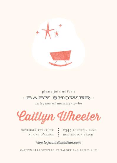 baby shower invitations - Mod Baby by Three Kisses Studio