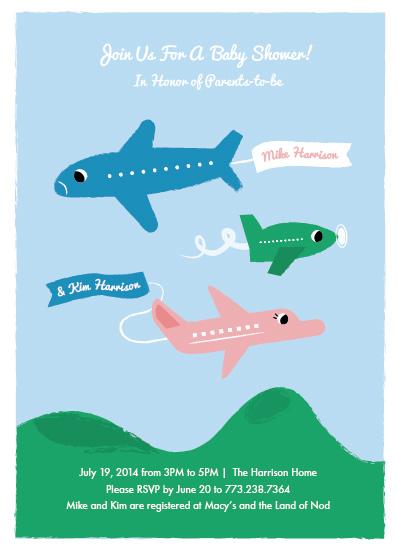 baby shower invitations - Three Planes by Morgan Ramberg