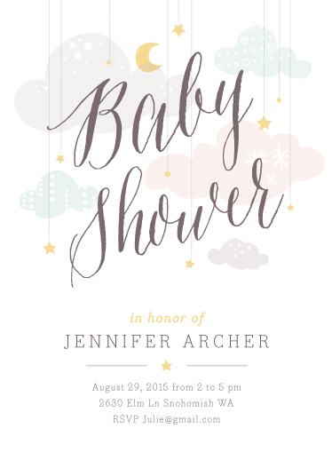 baby shower invitations - Shower Mobile by Heather Francisco