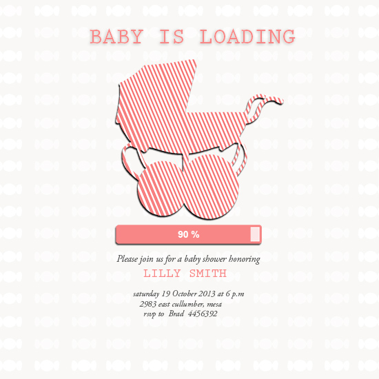 baby shower invitations - Baby is loading by Karosx sjlds