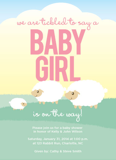 baby shower invitations - sheep familia2 by Kistin Creative Studio