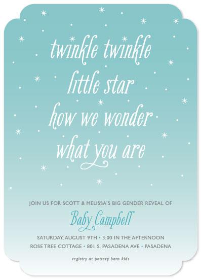 baby shower invitations - How We Wonder by Beth Schneider