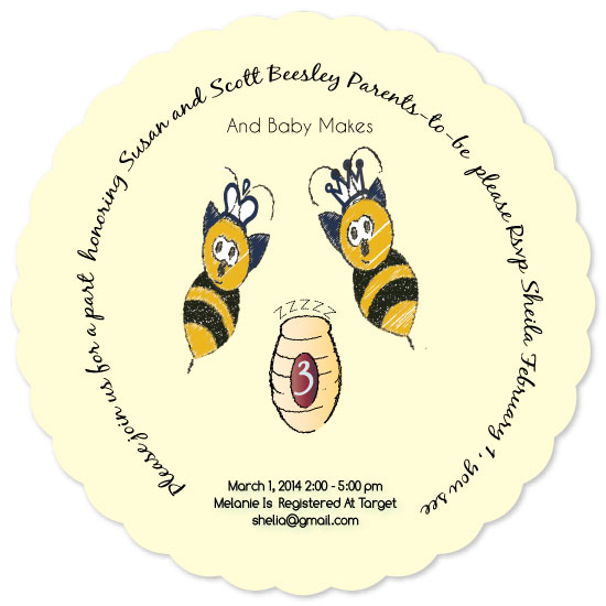 baby shower invitations - Parents to bee by Neeta Sawhney