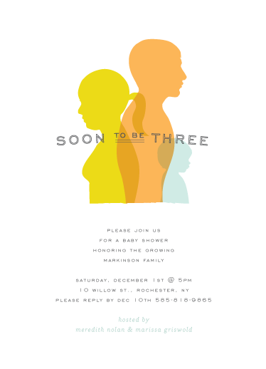 baby shower invitations - silhouetted by Up Up Creative
