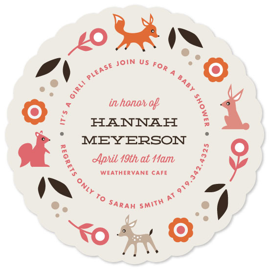 baby shower invitations - Woodland Romp by Olivia Raufman