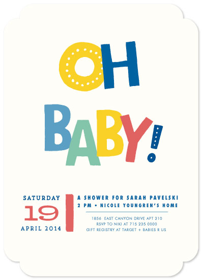 baby shower invitations - Bouncing Baby by Susan Brown
