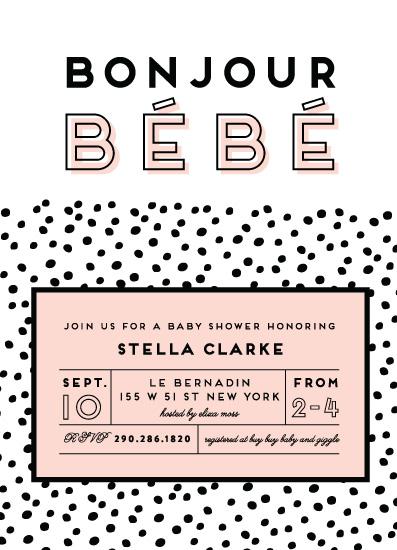 baby shower invitations - Bonjour Bébé by Ashley Hegarty
