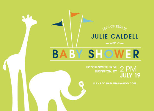 baby shower invitations - Big Top Baby by Andi Pahl
