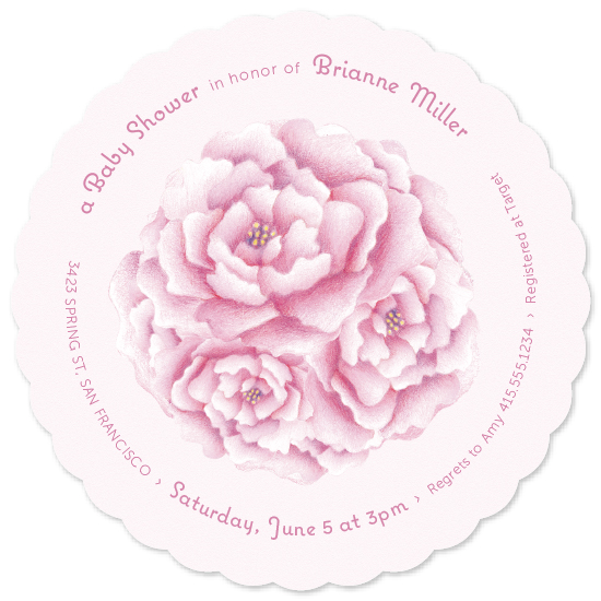 baby shower invitations - Pretty Peony by Meredith Vance