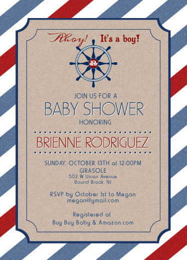baby shower invitations - Nautical Pirate by Laura Murphy