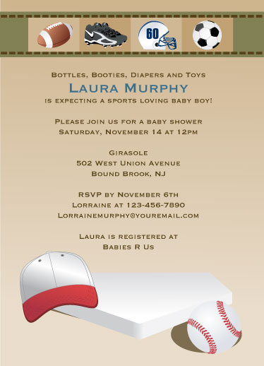 baby shower invitations - Sports Loving by Laura Murphy