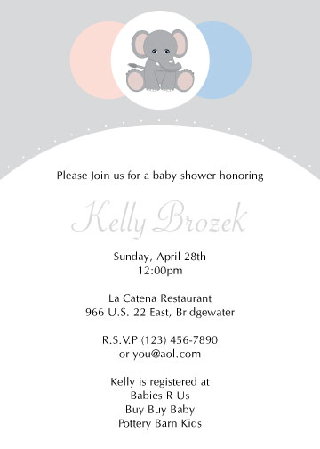 baby shower invitations - Surprise Elephant by Laura Murphy