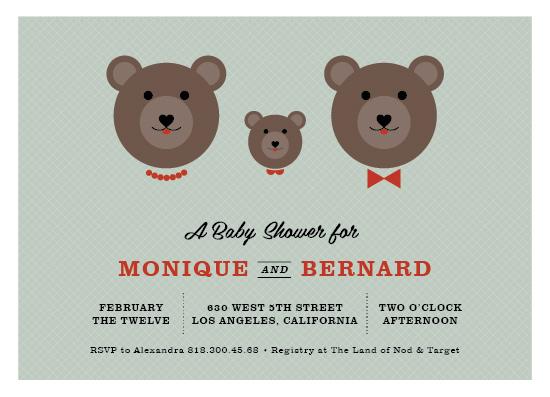 baby shower invitations - bear family by Aspacia Kusulas