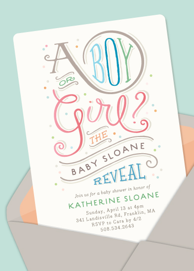 baby shower invitations - postmarked by Jennifer Wick