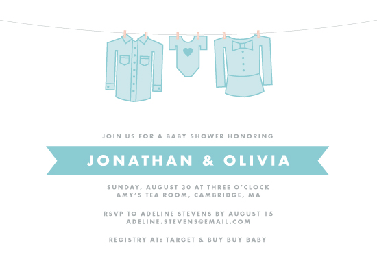 baby shower invitations - Mom, Dad & Baby by Pop and Shorty