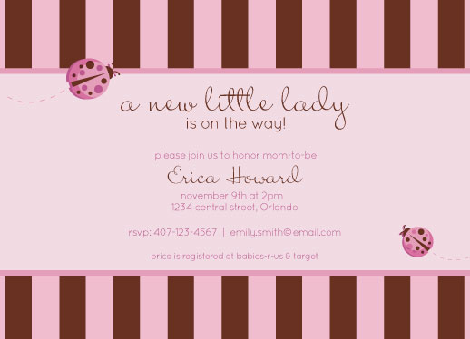 baby shower invitations - Little Ladybug by Jaci Steinberg