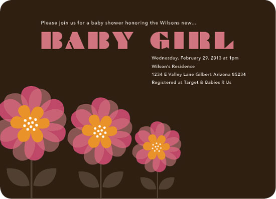 baby shower invitations - Welcome Baby Flower by Aschley Yano