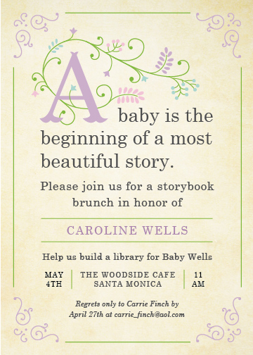 baby shower invitations  storybook at minted, Baby shower