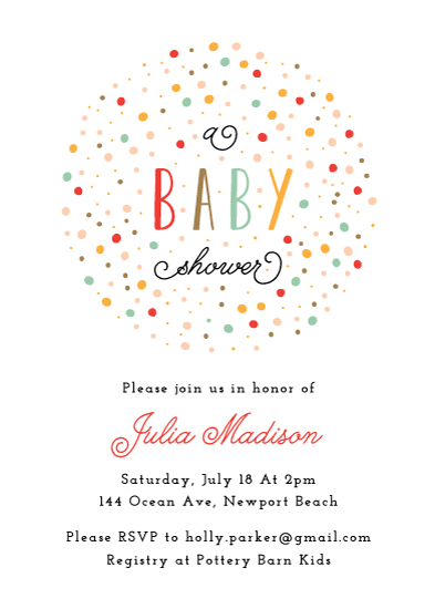 baby shower invitations - Sweet Sprinkles by Monica Schafer